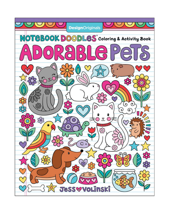 Libro para colorear - Adorable Pets