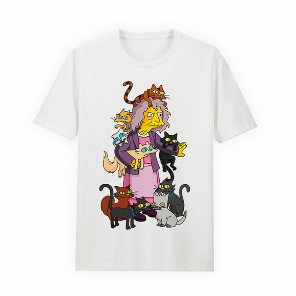 Polo Unisex The Simpsons Crazy Cat Lady (Tallas disponibles S y L)