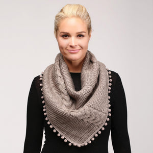 Cable Knit Infinity Scarves