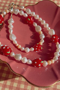 Vegan Strawberry Necklace
