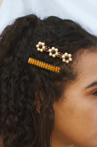 Autumn Daisy Barrette