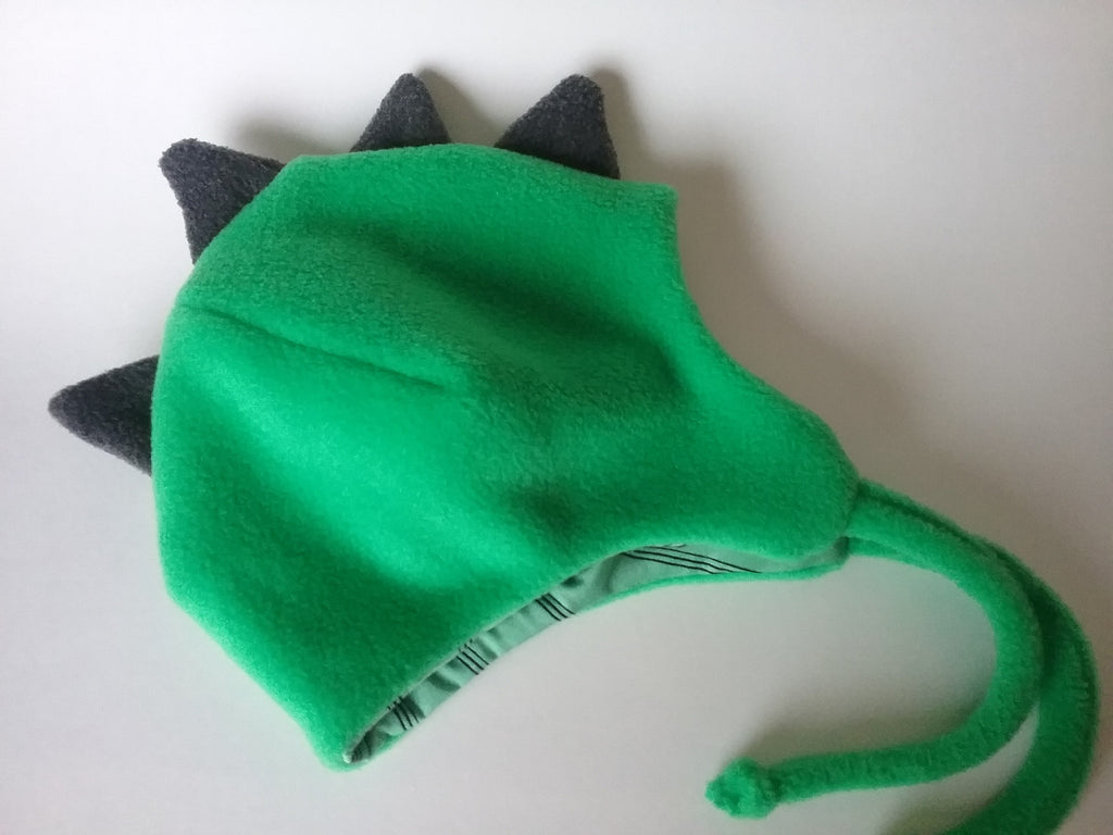 10f48ed25 Dinosaur toddler hat,fleece hat,ear flap hat with chin ties