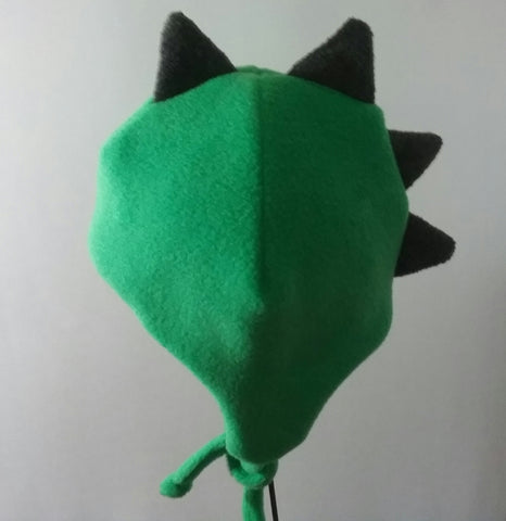 Dinosaur toddler hat,fleece hat,ear flap hat with chin ties