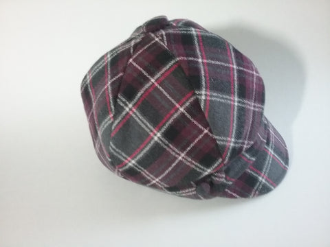 Girl plaid newsboy hat