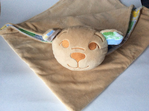 Minky security blanket (bear) Blanket with Friend