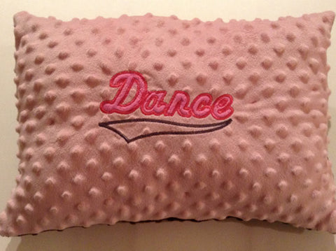 Pillow, Minky pillow,Embroidered pillow,Whimsical Pillow, dance lover, decor pillow