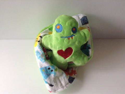 Lovie- monster security blanket, mini security blanket, comfort blanket