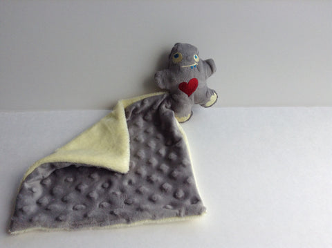 Grey Lovie- monster security blanket, mini security blanket, comfort blanket