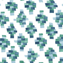 Load image into Gallery viewer, Face Masks in Bricks - Blue/Green  (pack of 12)
