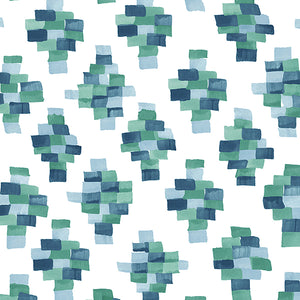 Face Masks in Bricks - Blue/Green  (pack of 12)