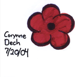 signed original flower drawing -Corynne Dech 7/20/04