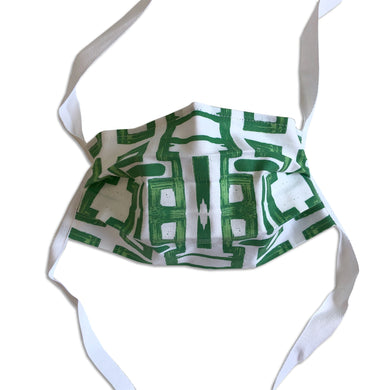 Cotton face mask with Lindsay Cowles' original design