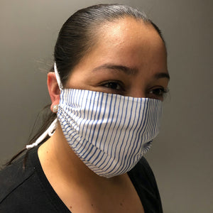 A woman wearing the KLS pocket mask