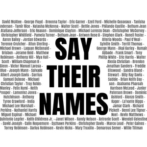 "Face Masks in ""Say Their Names""  (pack of 12)"