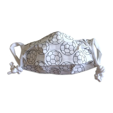 Children's Cotton face mask with soccer ball pattern