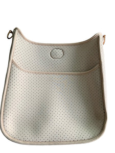 Perforated Neoprene Messenger Bag by Ahdorned