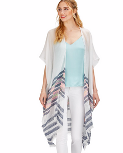 Striped Kimono with Eyelash Fringe *More Colors*