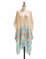 Load image into Gallery viewer, Striped Kimono with Eyelash Fringe *More Colors*