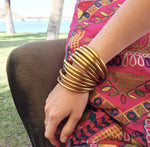 Load image into Gallery viewer, Budha Girl Bangles Gold