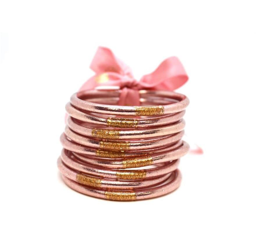 Budha Girl Bangles Rose Gold