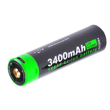 NEXTORCH 3400mAh USB Rechargeable 18650 Battery