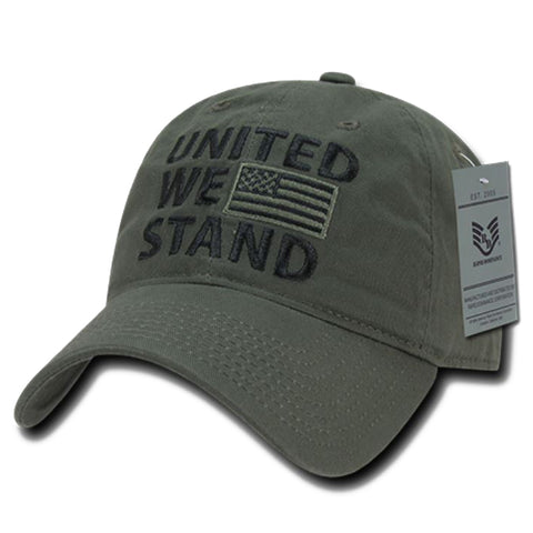 """UNITED WE STAND"" Text Embroidered Cap"