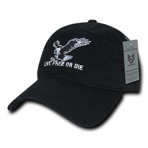 """Live Free or Die"" Embroidered Cap"