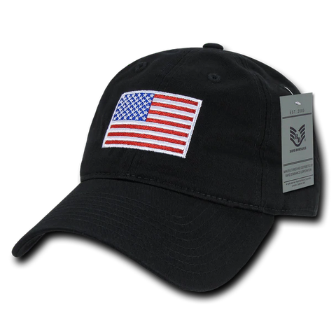 Tonal USA Flag Embroidered Cap