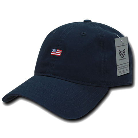 Small USA Flag Embroidered Cap