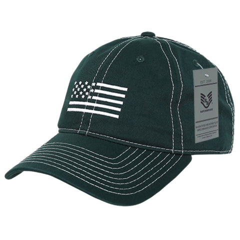 White US Flag Embroidered Cap