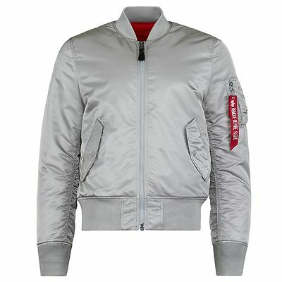 ALPHA MA-1 FLIGHT JACKET SLIM FIT (Silver)