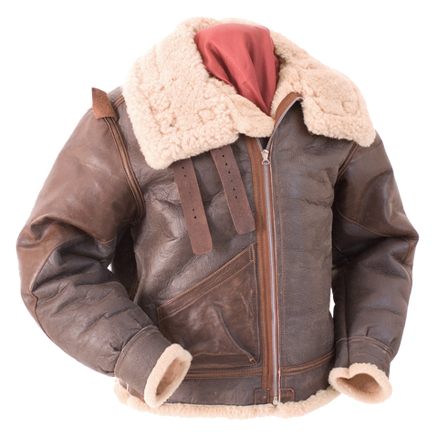 B-3 Type U.S. Air Force WWII Flight Leather Jacket - Eastman® Seal Brown Sheepskin