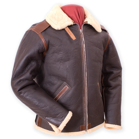 B-6 Type U.S. Air Force WWII Flight Leather Jacket  - Eastman® Russet Brown Sheepskin