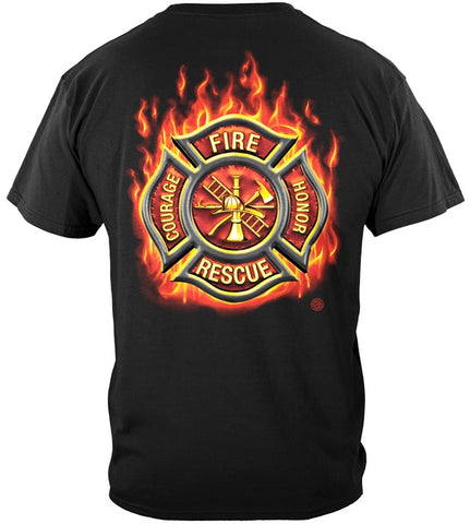 Firefighter Series T-shirt, Fire Maltese (JB96)