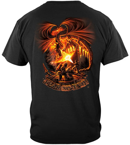 Firefighter Series T-shirt, Fear no Evil Dragon (JB60)