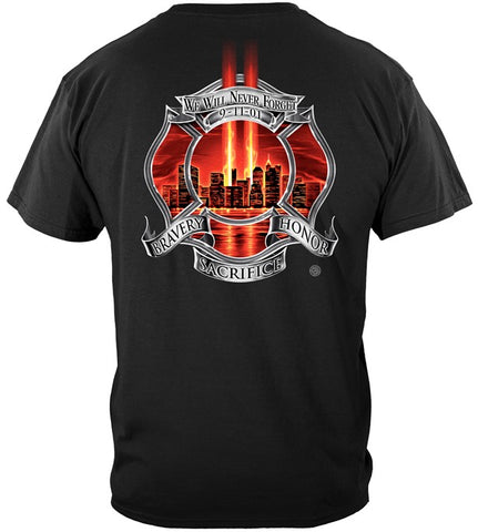 Firefighter Series T-shirt, Red Tribute High Honor (JB24)