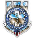 EMS Badge Of Honor, Reflective Decal