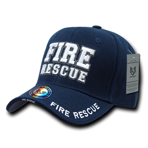 US Fire Rescue Embroidered Cap