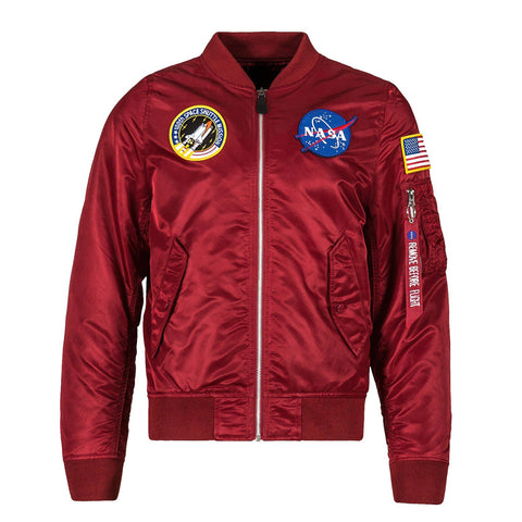ALPHA L-2B NASA FLIGHT JACKET (RED)