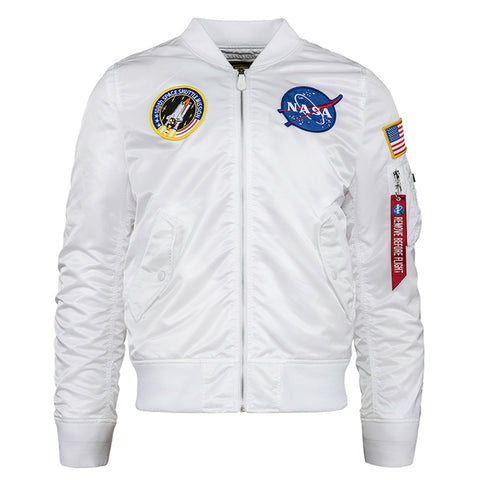 ALPHA L-2B NASA FLIGHT JACKET (WHITE)