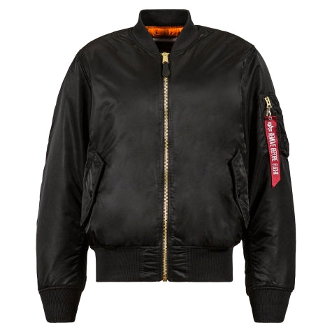 ALPHA MA-1 BLOOD CHIT FLIGHT JACKET (BLACK)