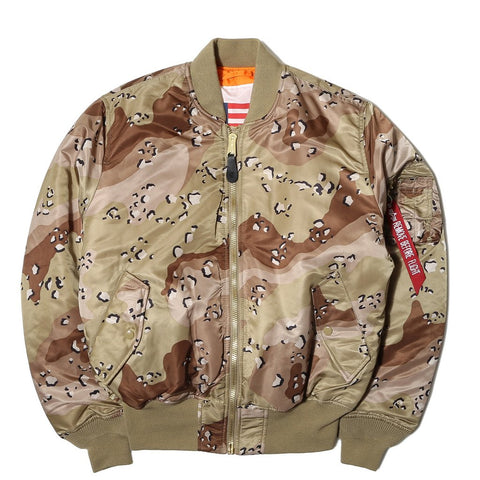 ALPHA MA-1 BLOOD CHIT FLIGHT JACKET (CHOCOLATE CHIP CAMO)