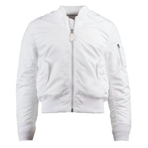 ALPHA MA-1 FLIGHT JACKET SLIM FIT (WHITE)