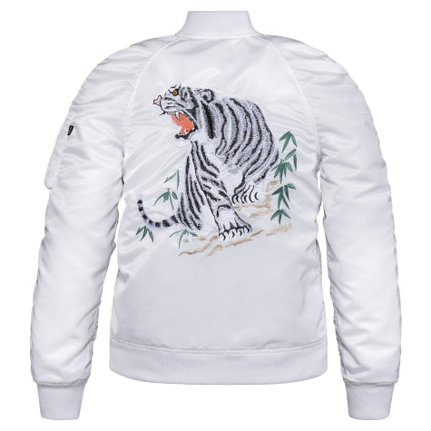 ALPHA MA-1 SOUVENIR TIGER W FLIGHT JACKET