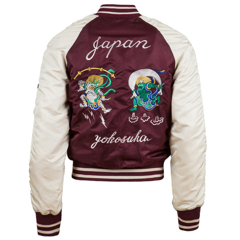 ALPHA MA-1 Souvenir Shinto Embroidery Flight Jacket