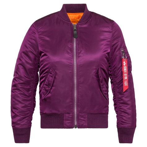 ALPHA MA-1 W FLIGHT JACKET (PURPLE)
