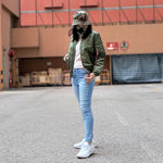 ALPHA MA-1 W FLIGHT JACKET (SAGE)