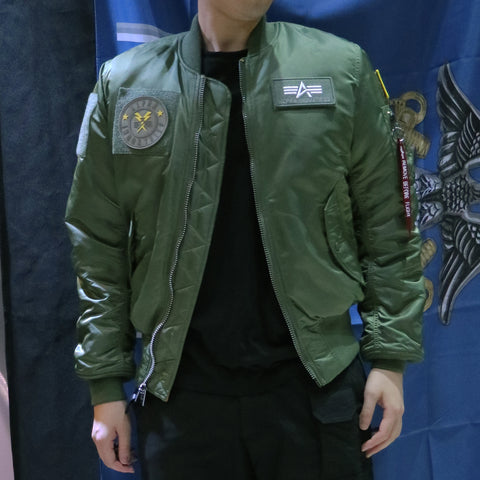 ALPHA MA-1 FLEX 飛行外套 (綠色) ALPHA MA-1 FLEX FLIGHT JACKET (SAGE)