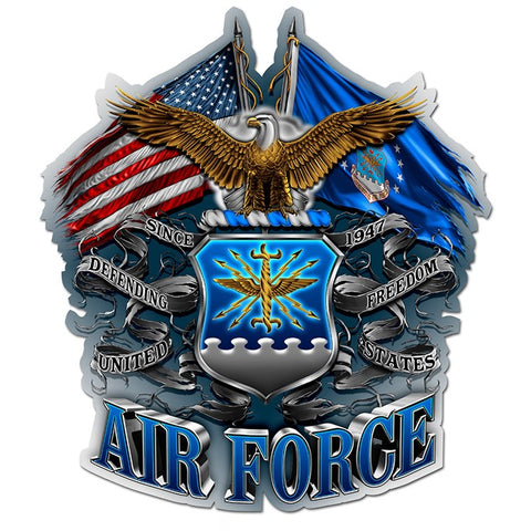 DOUBLE FLAG AIR FORCE EAGLE, Reflective Decals