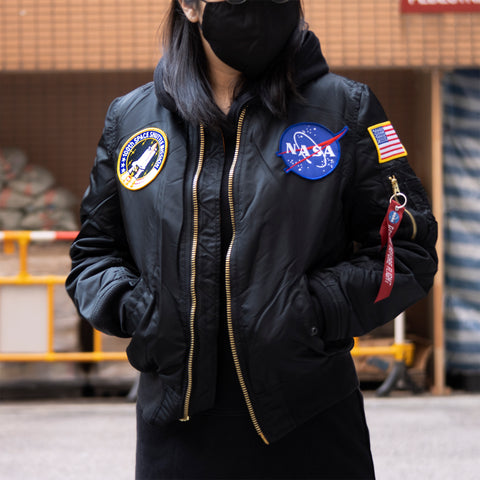ALPHA NASA MA-1 FLIGHT JACKET WOMEN